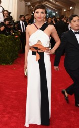 Maggie Gyllenhaal at the 2015 Met Gala on May 4, 2015 at the Costume Institute Benefit Gala at the Metropolitan Museum of Art in New York.