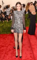 Miranda Kerr at the 2015 Met Gala on May 4, 2015 at the Costume Institute Benefit Gala at the Metropolitan Museum of Art in New York.