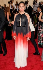 Olivia Munn J. Mendel at the 2015 Met Gala on May 4, 2015 at the Costume Institute Benefit Gala at the Metropolitan Museum of Art in New York.