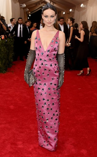 Olivia Wild at the 2015 Met Gala on May 4, 2015 at the Costume Institute Benefit Gala at the Metropolitan Museum of Art in New York.
