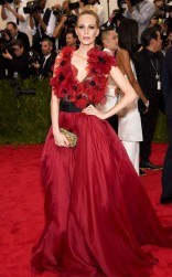 Poppy Delevigne at the 2015 Met Gala on May 4, 2015 at the Costume Institute Benefit Gala at the Metropolitan Museum of Art in New York.