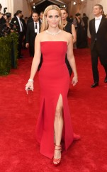 Reese Witherspoon at the 2015 Met Gala on May 4, 2015 at the Costume Institute Benefit Gala at the Metropolitan Museum of Art in New York.