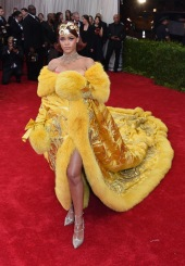 Rihanna at the 2015 Met Gala on May 4, 2015 at the Costume Institute Benefit Gala at the Metropolitan Museum of Art in New York.