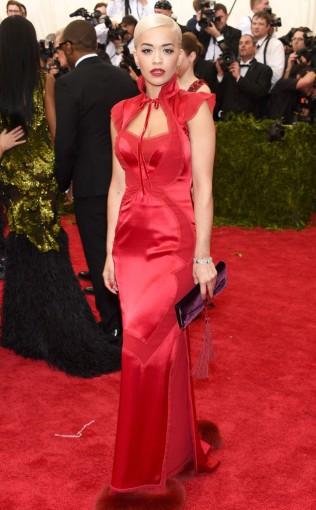 Rita Ora at the 2015 Met Gala on May 4, 2015 at the Costume Institute Benefit Gala at the Metropolitan Museum of Art in New York.