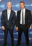 Anderson Cooper and boyfriend Benjamin Maisani at the 2015 GLAAD Media Awards on Saturday red carpet in New York City on May 9th, 2015.