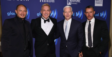 Anderson Cooper poses at he 2015 GLAAD Media Awards on Saturday red carpet in New York City on May 9th, 2015.