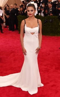 Selena Gomez at the 2015 Met Gala on May 4, 2015 at the Costume Institute Benefit Gala at the Metropolitan Museum of Art in New York.