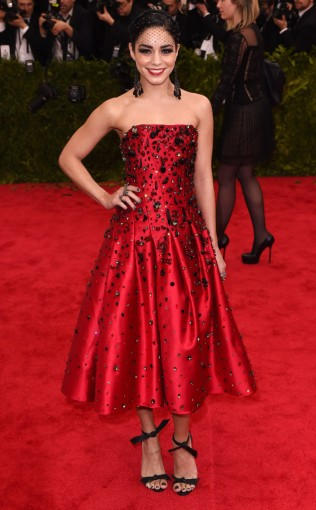 Vanessa Hudgens at the 2015 Met Gala on May 4, 2015 at the Costume Institute Benefit Gala at the Metropolitan Museum of Art in New York.
