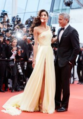 Amal and Gorge Clooney classically stunting in Armani and Versace for the Cannes Film Festival 2016
