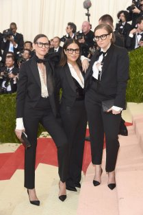 Jenna Lyons, Jennifer Konna, and Lena Dunham