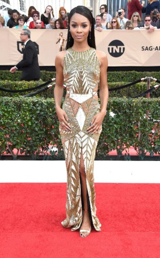 Zuri Hall at the 2017 Screen Actors Guild Awards (SGA Awards) Red Carpet on Jan. 29, 2017.