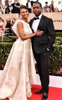 Sterling K. Brown and Ryan Michele Bathers at the 2017 Screen Actors Guild Awards (SGA Awards) Red Carpet on Jan. 29, 2017.