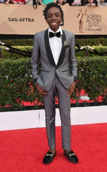 Caleb McLaughlin at the 2017 Screen Actors Guild Awards (SGA Awards) Red Carpet on Jan. 29, 2017.