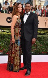 Sondra Spriggs and Mykelti Williamson at the 2017 Screen Actors Guild Awards (SGA Awards) Red Carpet on Jan. 29, 2017.