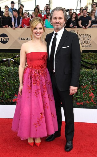 Cara Buono and Peter Thum at the 2017 Screen Actors Guild Awards (SGA Awards) Red Carpet on Jan. 29, 2017.
