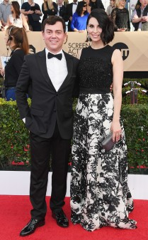 Jo Lo Truglio and Beth Dover at the 2017 Screen Actors Guild Awards (SGA Awards) Red Carpet on Jan. 29, 2017.