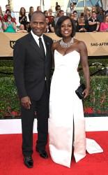 Julius Tennon and Viola Davis at the 2017 Screen Actors Guild Awards (SGA Awards) Red Carpet on Jan. 29, 2017.