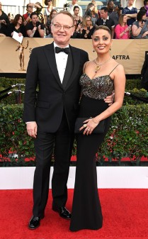 Jared Harris and Allegra Riggio at the 2017 Screen Actors Guild Awards (SGA Awards) Red Carpet on Jan. 29, 2017.