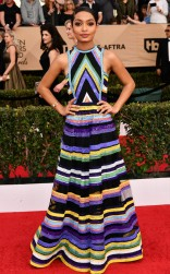 Tara Shahidi at the 2017 Screen Actors Guild Awards (SGA Awards) Red Carpet on Jan. 29, 2017.