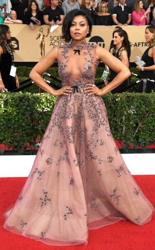 Taraji P. Henson at the 2017 Screen Actors Guild Awards (SGA Awards) Red Carpet on Jan. 29, 2017.