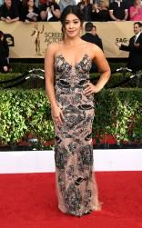 Gina Rodriguez at the 2017 Screen Actors Guild Awards (SGA Awards) Red Carpet on Jan. 29, 2017.