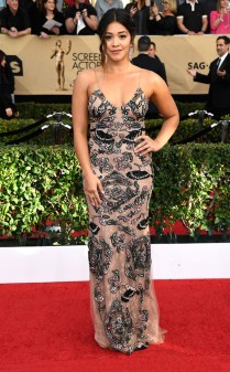 Gina Rodriguez at the 2017 Screen Actors Guild Awards (SGA Awards) Red Carpet on Jan. 29, 2017.
