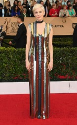 Michelle Williams at the 2017 Screen Actors Guild Awards (SGA Awards) Red Carpet on Jan. 29, 2017.