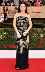 Julia Louis Dreyfus at the 2017 Screen Actors Guild Awards (SGA Awards) Red Carpet on Jan. 29, 2017.