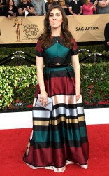 Mayim Balik at the 2017 Screen Actors Guild Awards (SGA Awards) Red Carpet on Jan. 29, 2017.