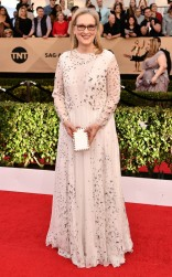 Meryl Streep at the 2017 Screen Actors Guild Awards (SGA Awards) Red Carpet on Jan. 29, 2017.