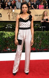 Naomie Harris at the 2017 Screen Actors Guild Awards (SGA Awards) Red Carpet on Jan. 29, 2017.