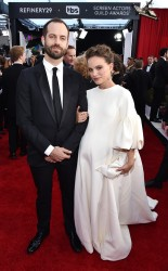 Benjamin Millepied and Natalie Portman at the 2017 Screen Actors Guild Awards (SGA Awards) Red Carpet on Jan. 29, 2017.