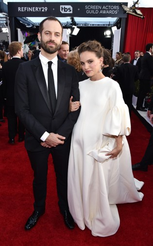 Benjamin Millepied and Natalie Portman at the 2017 Screen Actors Guild Awards (SGA Awards) Red Carpet on Jan. 29, 2017.