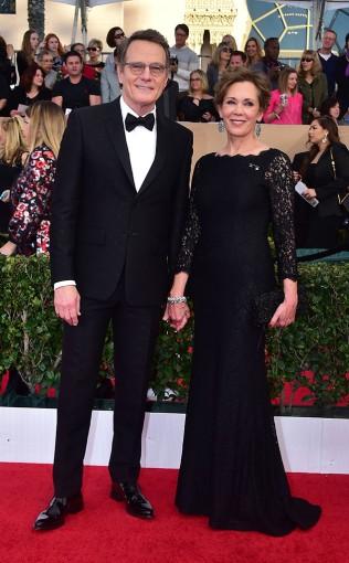 Bryan Cranston and Robin Dearden at the 2017 Screen Actors Guild Awards (SGA Awards) Red Carpet on Jan. 29, 2017.