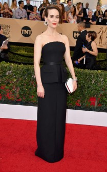 Sara Paulson at the 2017 Screen Actors Guild Awards (SGA Awards) Red Carpet on Jan. 29, 2017.