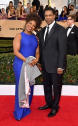 Pauletta and Denzel Washington at the 2017 Screen Actors Guild Awards (SGA Awards) Red Carpet on Jan. 29, 2017.