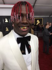 Lil Yachty on the 59th annual Grammy Awards red carpet in Los Angeles on February 12, 2017.