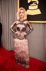 Katy Perry on the 59th annual Grammy Awards red carpet in Los Angeles on February 12, 2017.