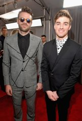 The Chainsmokers on the 59th annual Grammy Awards red carpet in Los Angeles on February 12, 2017.