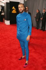 Jidenna on the 59th annual Grammy Awards red carpet in Los Angeles on February 12, 2017.