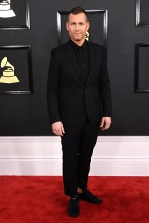 Kaskade on the 59th annual Grammy Awards red carpet in Los Angeles on February 12, 2017.
