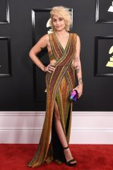Paris Jackson on the 59th annual Grammy Awards red carpet in Los Angeles on February 12, 2017.