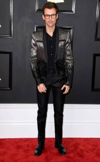 Brad Goreski on the 59th annual Grammy Awards red carpet in Los Angeles on February 12, 2017.