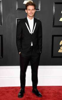 Flume on the 59th annual Grammy Awards red carpet in Los Angeles on February 12, 2017.