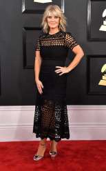 Natalie Grant on the 59th annual Grammy Awards red carpet in Los Angeles on February 12, 2017.