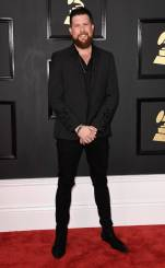 Zach Williams on the 59th annual Grammy Awards red carpet in Los Angeles on February 12, 2017.