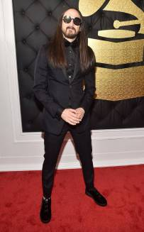 Steve Aiko on the 59th annual Grammy Awards red carpet in Los Angeles on February 12, 2017.