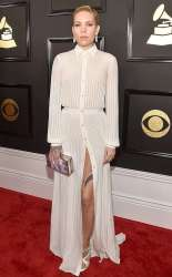 Skylark Grey on the 59th annual Grammy Awards red carpet in Los Angeles on February 12, 2017.