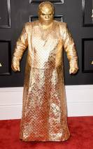 Cee Lo Green on the 59th annual Grammy Awards red carpet in Los Angeles on February 12, 2017.
