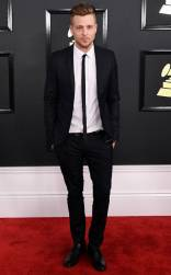 Ryan Tedder on the 59th annual Grammy Awards red carpet in Los Angeles on February 12, 2017.